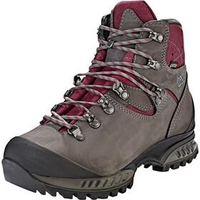 Hanwag Tatra II Wide GTX Shoes Women asphalt/dark garnet
